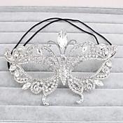 máscaras de diamantes de imitación casco de la boda elegante estilo femenino del banquete de boda