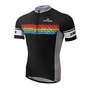 XINTOWN Maillot de Ciclismo Hombre Manga Corta Bicicleta Camiseta/Maillot Tops Secado rápido Resistente a los UV Transpirable
