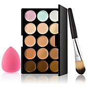 15 Corrector/Contour Borla Para Maquillaje/Esponja Cosmética Pinceles de Maquillaje Húmedo Rostro Blanqueo Cobertura Larga Duración