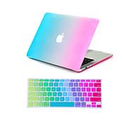 """colorida caja de cuerpo completo 2 en 1 + arco iris cubierta del teclado para MacBook Air 11 """"pro 13"""" / 15 """""""