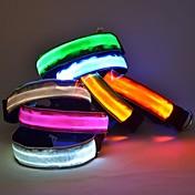 Kat / Hund Krave LED Lys / Justerbare / Uttrekkbar Nylon Blå / Rosa / Tilfældig Farve