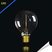 1pc 25W 40W E27 E26/E27 E26 G80 Blanco Cálido 2300 K Bombilla incandescente Vintage Edison 220 V 85-265V