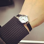 Mujer Reloj de Moda Cuarzo PU Banda Perlas Negro Blanco Rosa Blanco Negro Rosa