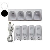 WII Audio y Video Cargador / Baterías Para Wii U / Wii ,  Mini Cargador / Baterías Metal / ABS 1 pcs unidad