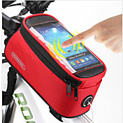 ROSWHEEL 자전거 핸들바 백 자전거 프레임 백 휴대 전화 가방 106.67999999999999 인치 방수 비 방지 방수 지퍼 먼지 방지 충격방지 다기능 터치 스크린 전화/Iphone 싸이클링 용 iphone 4/18S iPhone 5/5S