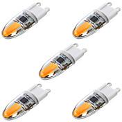 YWXLIGHT® 5pcs 4W 350-450 lm G9 LED-lamper med G-sokkel T 2 leds COB Mulighet for demping Dekorativ Varm hvit Kjølig hvit Naturlig hvit