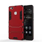 용 화웨이 케이스 / P9 / P9 Lite / P8 / P8 Lite / 메이트8 충격방지 / 스탠드 케이스 뒷면 커버 케이스 갑옷 하드 PC 용 Huawei화웨이 P9 / 화웨이 P9 라이트 / Huawei P8 / Huawei P8 Lite