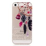 Para Funda iPhone 5 Transparente / Diseños Funda Cubierta Trasera Funda Atrapasueños Suave TPU iPhone 7 Plus / iPhone 7 / iPhone SE/5s/5