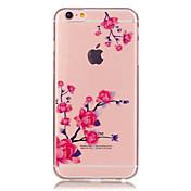 Funda Para Apple iPhone 6 iPhone 6 Plus Transparente Diseños Funda Trasera Flor Suave TPU para iPhone 6s Plus iPhone 6s iPhone 6 Plus
