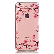 Etui Til Apple iPhone X iPhone 8 iPhone 6 iPhone 6 Plus Gjennomsiktig Mønster Bakdeksel Blomsternål i krystall Myk TPU til iPhone X