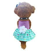 Perro Vestidos Ropa para Perro Corazones Verde / Morado Disfraz Para mascotas