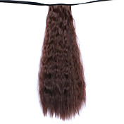 적갈색 50cm 물 합성 고온 와이어 뜨거운 옥수수 말꼬리 색상 (33) 가발