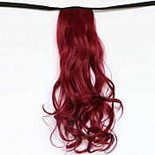 longitud 50 cm de color rojo el nuevo tipo de correa larga peluca rizada cola de caballo de pelo cola de caballo falsa (color 118 quater)