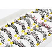 속눈썹 속눈썹 인조 속눈썹 눈 / 속눈썹 교차 스타일 / 두꺼운 확장 / 머리에 볼륨을 준 수공 섬유 Black Band 0.10mm 11mm