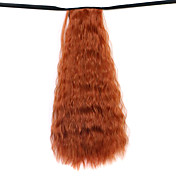 peluca marrón agua de 50 cm de alambre de alta temperatura sintética de maíz caliente del color de cola de caballo 119