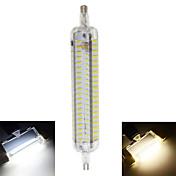 800 lm R7S Bombillas LED de Mazorca T 152 leds SMD 4014 Impermeable Decorativa Blanco Cálido Blanco Fresco AC 220-240V