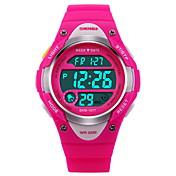 SKMEI Niño Reloj Deportivo Reloj digital Digital LCD Calendario Cronógrafo Resistente al Agua alarma Luminoso Cronómetro Caucho Banda