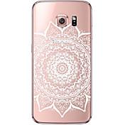 Etui Til Samsung Galaxy Samsung Galaxy S7 Edge Gjennomsiktig Mønster Bakdeksel Mandala Myk TPU til S7 edge S7 S6 edge plus S6 edge S6