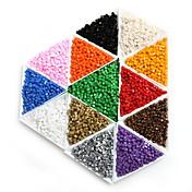 beadia 25g (aprox 300pcs) granos de la semilla de cristal cuadrado 3x3mm granos del espaciador sueltos