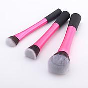 3pcs Pinceles de maquillaje Profesional Sistemas de cepillo Pelo Sintético Pincel Mediano / Pincel Pequeño