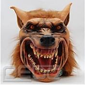máscara de látex de Halloween máscara de animal de la cabeza del lobo espeluznante máscaras del partido de Halloween cosplay traje adulto