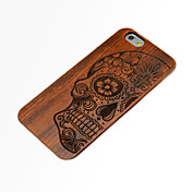 Funda Para iPhone 6s Plus iPhone 6 Plus iPhone 6s iPhone 6 iPhone 6 iPhone 6 Plus En Relieve Funda Trasera Cráneos Dura De madera para