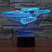 3 일 램프 다채로운 터치 주도의 비전 램프 선물 분위기 책상 램프 밤 빛 색상 변경