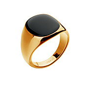 남성용 밴드 반지 패션 의상 보석 18K 금 오팔 합금 보석류 제품 파티 일상 캐쥬얼 크리스마스 선물