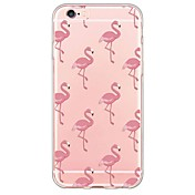 Etui Til Apple iPhone X / iPhone 8 / iPhone 7 Ultratynn / Gjennomsiktig Bakdeksel Flamingo Myk TPU til iPhone X / iPhone 8 Plus / iPhone 8