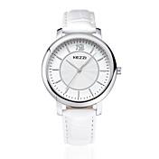 KEZZI Pareja Reloj de Moda Cuarzo Cuarzo Japonés / Piel Banda Casual Negro Blanco Marrón