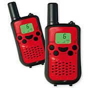 fácil de hablar 446mhz walkie talkie para niños (5 colores) salida 0.5w 8 canales hasta 3km-5km aa batería alcalina (1 par)