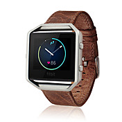 Marrón Café / Marrón Piel Hebilla Clásica / Correa de Cuero Para Fitbit Reloj 23mm