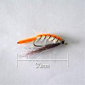 "500 pcs Cebos Señuelos duros Naranja g/Onza,30 mm/1"" pulgada,Plástico blando Pesca de baitcasting"