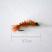 "500 pcs Cebos Señuelos duros Naranja g/Onza,27 mm/1"" pulgada,Plástico blando Pesca de baitcasting"