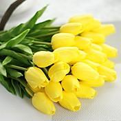 1 Gren Polyester Tulipaner Bordblomst Kunstige blomster