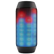 Bluetooth altavoces inalámbricos Bluetooth Al Aire Libre Portátil Bult-en el mic Soporta tarjetas de memoria super Bass Luz LED