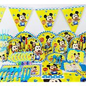 de lujo 78pcs bebé Micey decoración decoraciones fiesta de cumpleaños de los niños evnent fuentes del partido del partido 6 personas