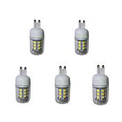 g9 llevó luces de maíz t 27 smd 5050 380lm blanco cálido blanco frío 3000-3200 / 6000-6500k decorativo ac 220-240v