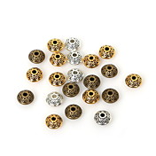 beadia 50pcs de oro antiguo&plata&latón 6x4 mm chapado de metal sueltas granos del espaciador