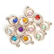 Mujer Diamante Sintético Colgantes / Encantos - Moda Color Aleatorio Forma de Círculo / Forma Geométrica / Redondas Colgante Para Diario