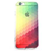 Para Funda iPhone 7 / Funda iPhone 7 Plus / Funda iPhone 6 Transparente Funda Cubierta Trasera Funda Gradiente de Color Dura Acrílico