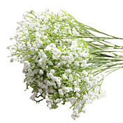 6pcs/Set 6 Rama PU Gipsófila Flor de Mesa Flores Artificiales 23 inch