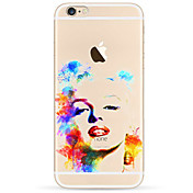 Para Funda iPhone 7 / Funda iPhone 6 / Funda iPhone 5 Ultrafina / Diseños Funda Cubierta Trasera Funda Chica Sexy Suave TPU AppleiPhone 7