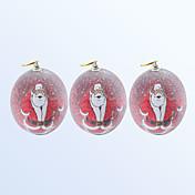 Navidad decoración de bolas de color rojo 3pcs