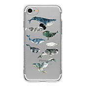 Funda Para Apple Funda iPhone 5 iPhone 6 iPhone 7 Diseños Funda Trasera Animal Suave TPU para iPhone 7 Plus iPhone 7 iPhone 6s Plus
