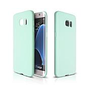 Funda Para Samsung Galaxy Funda Samsung Galaxy Ultrafina Funda Trasera Color sólido Suave TPU para S7 edge S7 S6 edge plus S6 edge S6