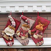 Decoraciones de vacaciones Animales / Muñecos de Nieve / Santa Medias de Lencería Fiesta / Novedades / Navidad 1pc