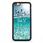 Para Funda iPhone 7 Funda iPhone 6 Funda iPhone 5 Carcasa Funda Diseños Cubierta Trasera Funda Vista de la ciudad Dura Aluminio para Apple