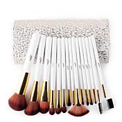 15pcs Makeup børster Profesjonell Børstesett Børste / Nylon Børste / Syntetisk hår Profesjonell / syntetisk / Hypoallergenisk Middels