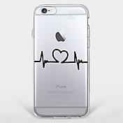 케이스 제품 Apple iPhone X iPhone 8 Plus iPhone 7 iPhone 6 아이폰5케이스 울트라 씬 투명 패턴 뒷면 커버 심장 소프트 TPU 용 iPhone X iPhone 8 Plus iPhone 8 아이폰 7 플러스